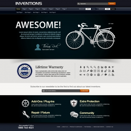 web page elements: Web Design Website Elements Template