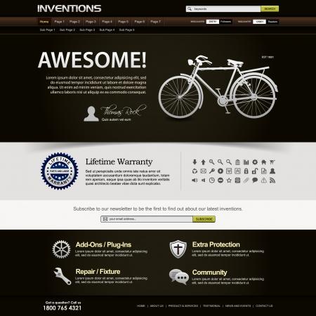 Web Design Website Elements Template Stock Vector - 18812297