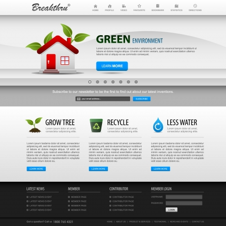 Web Design Website Element Template Vector