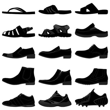 Man Male Men Shoes Footwear Stock Vector - 18811990