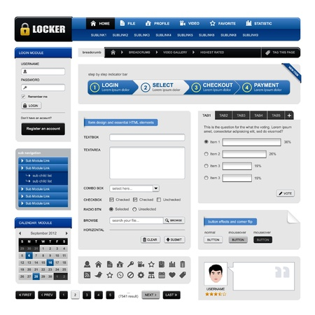 website buttons: Web Design Website Element Vector