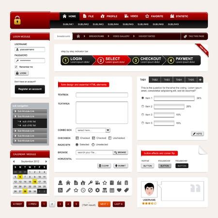 cms: Web Design Website Element Vector