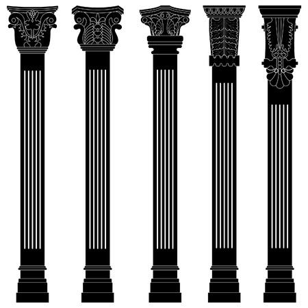 zuilen: pijler kolom antiek, oude, oude romeinse griekse architectuur