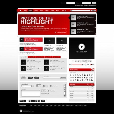 web side: Web Design Website Elements