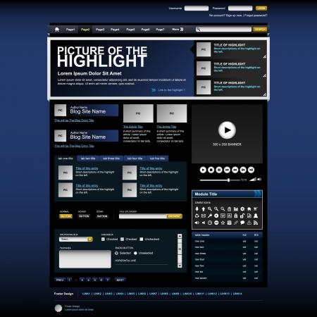Web Design Website Elements Stock Vector - 18812312