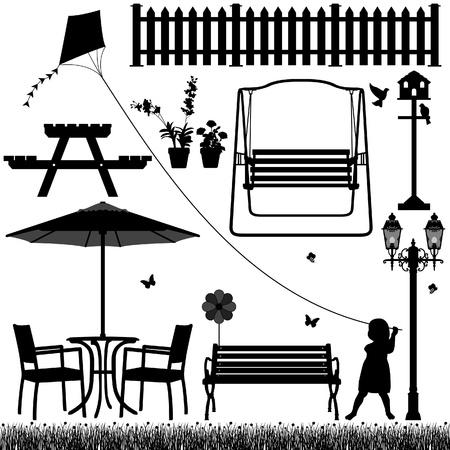 banc de parc: Jardin Cour Field Park extérieure