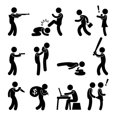 Terrorist Crime Bad Violence  Snatch Thief Criminal Icon Symbol Sign Pictogram Stock Vector - 18812421