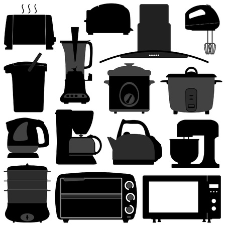 Kitchen Appliances Electronic Electrical Equipment Tool Vector