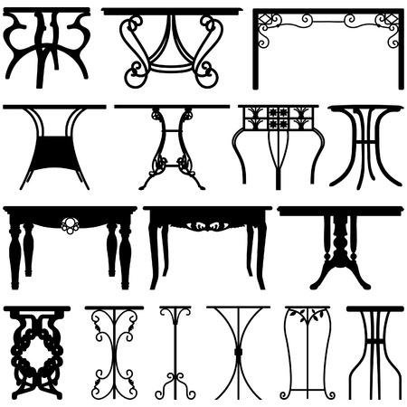 muebles antiguos: Escritorio Mesa Home Office Furniture Design Vectores