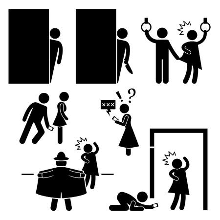 nude mann: Pervert Stalker Physco Molester Flasher Stick Figure Piktogramm Icon