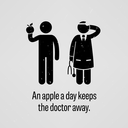 An Apple a Day Keeps the Doctor Away Illustration