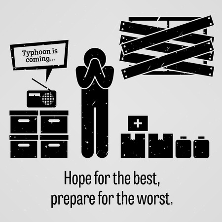 worst: Hope for the Best Prepare for the Worst Illustration
