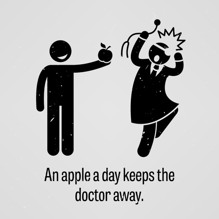 human immune system: An Apple a Day Keeps the Doctor Away Funny Version