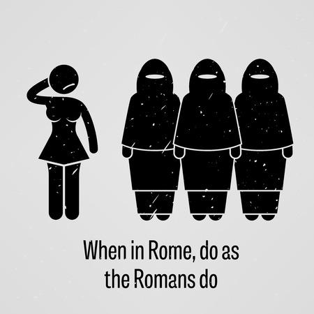 contradict: When in Rome Do as the Romans Do