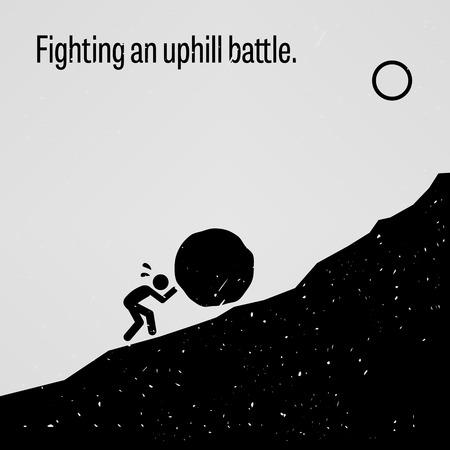 empujando: Librando una dura batalla