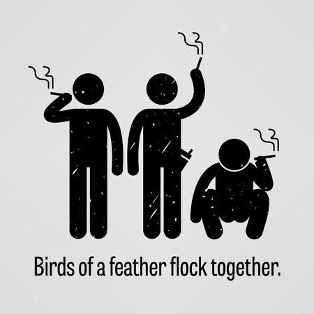 Birds of a Feather Flock Together Vector