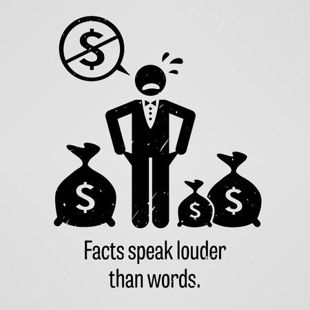 bolsa dinero: Hechos y no palabras