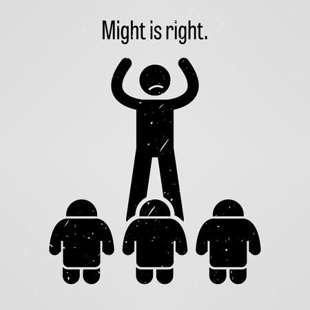 figura humana: Fuerza es el derecho Vectores