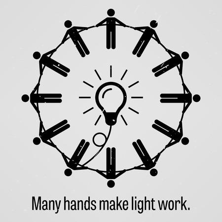 cooperativismo: Muchas manos hacen el trabajo ligero Vectores