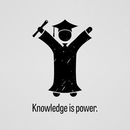 conocimiento: El conocimiento es poder Vectores