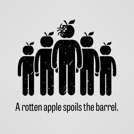 A Rotten Apple Spoils the Barrel Stok Fotoğraf - 36629380