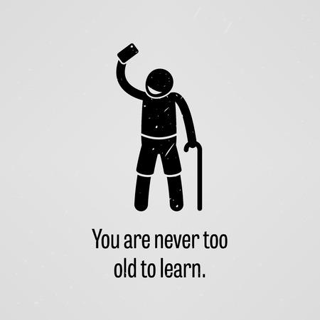 persona mayor: Usted nunca es demasiado viejo para aprender