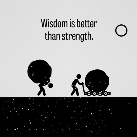 Weisheit ist besser als Stärke Standard-Bild - 36629416