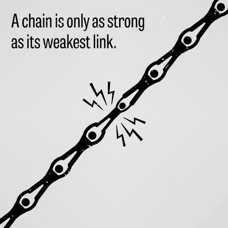 unreliable: A chain is only as strong as its weakest link