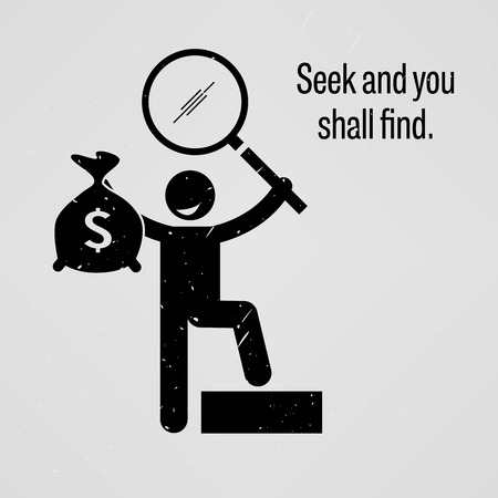 Seek and you shall find Vector