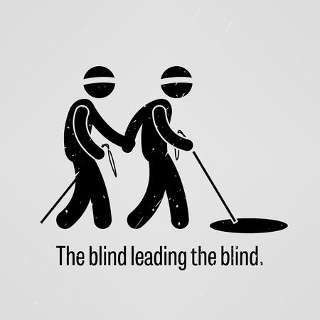 ignorancia: El ciego gu�a a otro ciego Vectores