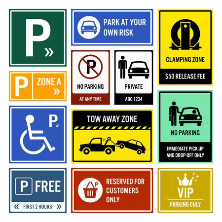 a lot: Car Park Parking Signboards