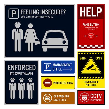 letreros: Aparcamiento Seguridad y Vigilancia Letreros