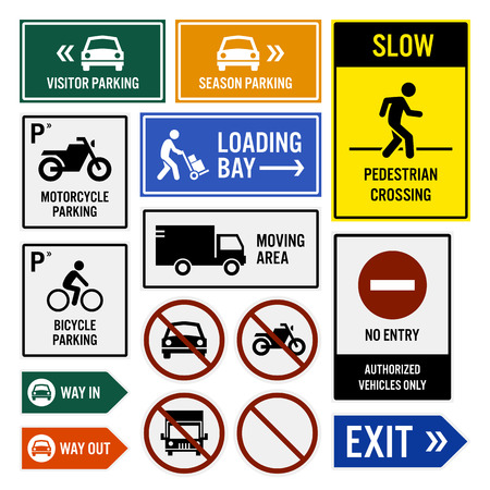 cars parking: Parking Area Compound Signboards