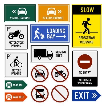 letreros: �rea de estacionamiento Letreros Compuesto