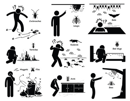 figura humana: La infestaci�n de cucarachas Murci�lagos Plagas Wasp Termitas Ratas Insectos Gusanos Hormigas Abejas