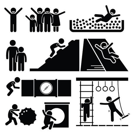 actividades recreativas: Cubierta metálica para niños Sala de Juegos para Niños