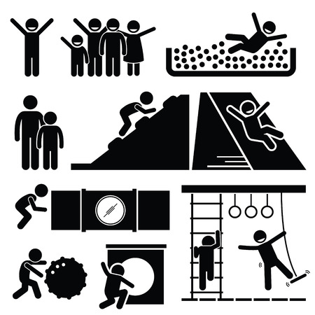 ni�o escalando: Cubierta met�lica para ni�os Sala de Juegos para Ni�os