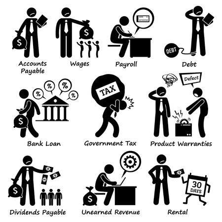 strichmännchen: Unternehmen Geschäfts Haftung Piktogramm