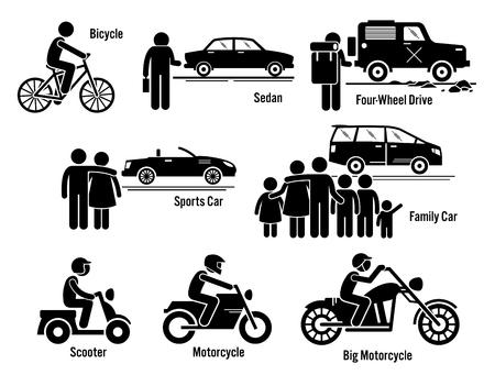 transport: Land persönliche Transport Transport Fahrzeuge Set
