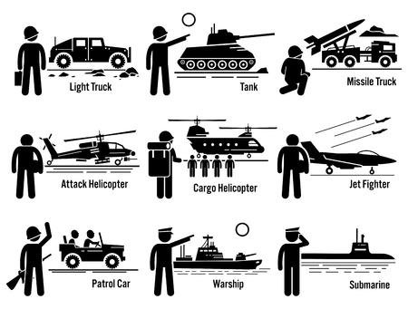 Militares del Ejército Vehículos de Transporte Conjunto Soldado Foto de archivo - 53802604