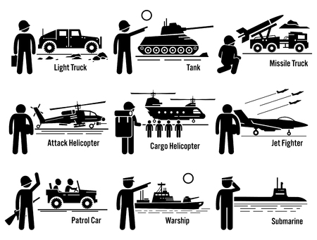 Military Vehicles Leger soldaat Vervoer Set
