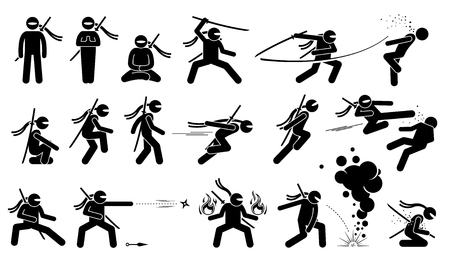 summon: Ninja assassin movement and fighting skills with Japanese weapon sword and shuriken to attack. The ninja also uses ninjutsu technique to summon fire and cast smoke grenade. Kamikaze when he fails.