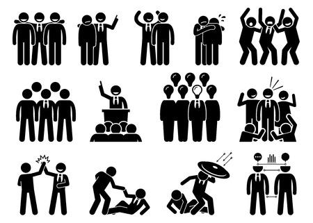 Zakenman een leider. Deze zakenman heeft leiderschapskwaliteiten en hij heeft veel vrienden, netwerken, bewonderaars, en teamgenoot. De persoon helpt, te beschermen, en leidt zijn medewerkers tot succes.
