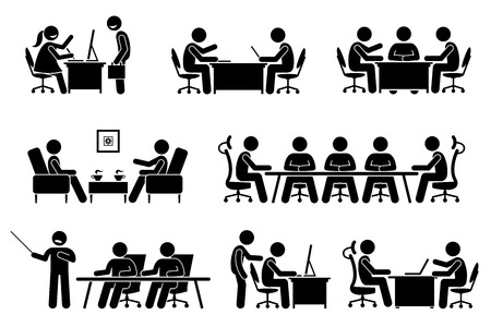 business meeting, conference, and discussion. The meet up are business proposal, brainstorming, annual general meeting, and presentation. They are marketeer, director, and entrepreneur.