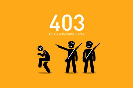 Website Error 403. Forbidden. Royalty Free Cliparts, Vectors, And