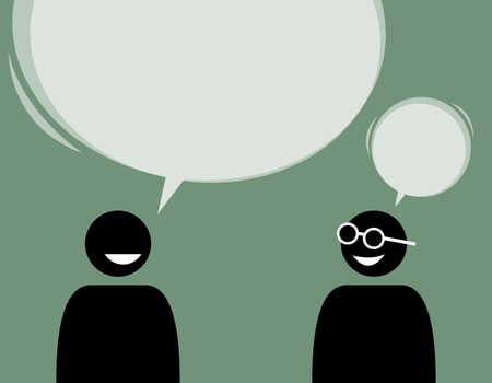 Two man friends talking and agree with each other. A man is making a statement while the other concur with his idea.