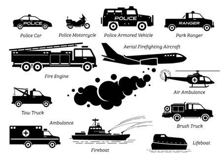 Liste der Symbole für Notfallfahrzeuge.
