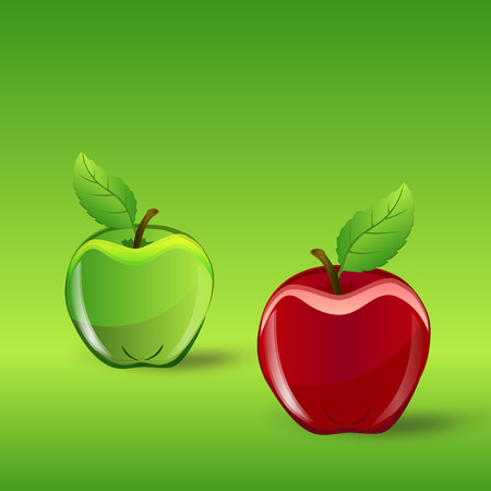 Apples - vector graphic Фото со стока - 50050871