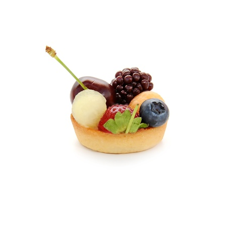 Small cake with fruits Stock Photo