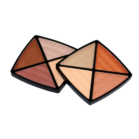 A 8-shade eye shadow palette with clear soft-transmitting colors  Stock Photo